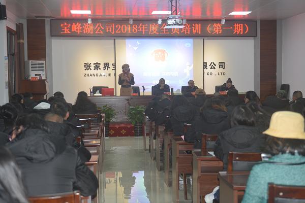 宝峰湖公司开展2018年全员培训工作